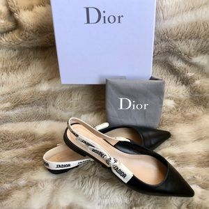 Dior J'adior slingback flats Lambskin pointed toe